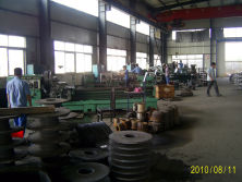 slurry pump machining workshop