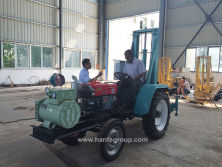 Foreign customer visted our factory for their tractor mounted water well drilling rig