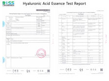 Hyaluronic Acid Serum Test Report