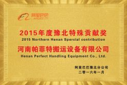 2015 Northern Henan Special Contribution Award