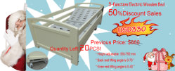 Promotion!! Half Discount Sales! THR-EB014 Electric adjustable home care wooden bed