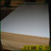 Warm white melamine paper laminated MDF
