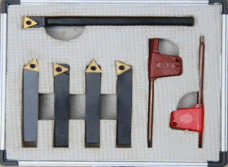 4+1 5PC Indexable Carbide Turning Tool Set