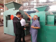 Customer visit ofr the coal briquetting machine