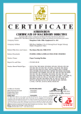 CE CERTIFICATE OF PAPER CREASING MACHINE
