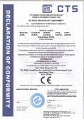 CE certificate of optical cable