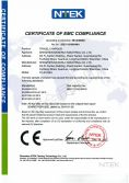CE-EMC certification of TC-0105EU charger