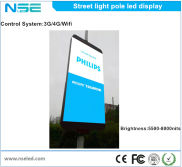 Street pole LED display