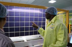 Burundi customers visit the solar panel factory
