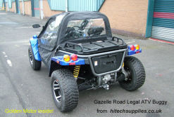 Gazelle Road LEAGAL atv Buggy powered by 10 kw motor from Golden Motor
