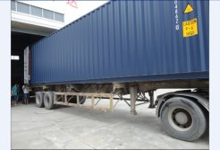 Container to our factory to load the products