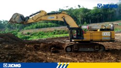 XCMG excavator working in Laos