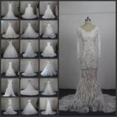 100% Real Wedding Dress 2016 High Quality Fabric Bridal Gowns