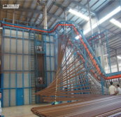 Italian vertical powder coating line