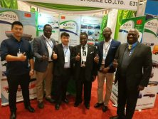 Photo taken with customers at the Kenya exhibition