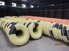 Truck tyre warehouse and packing