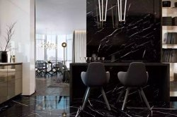 Nero Marquina/ Black Marquina interior decoration