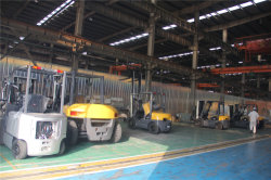 Finised Forklifts Waiting For Testing