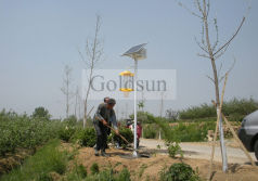 Solar Insect Killer Lamp in Muping, Shandong province