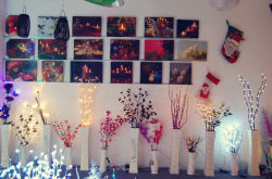 christmas light sample room