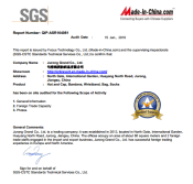 SGS audited report