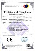 CE certificate of electronic ballast