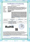ROSH certification of confomity