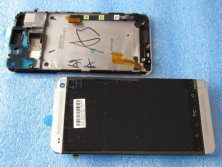 Cell phone parts for HTC one M7 801e lcd display with touch sceen with frame