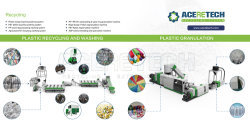 Plastic washing and pelletizing line