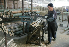 Raw Bamboo processing
