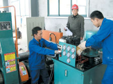 Guangyue workers installation and debugging