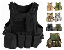 8-Colors Military Gear Molle Combat Soft Safety Protective Army Tactical Vest