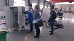 Customer from Australia came to our factory to inspect his machine