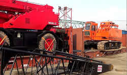 Our crawler crane and rough terrain crane will going to Indonesia