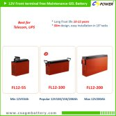 CSPOWER FL series Front terminal gel battery upto 12V200Ah