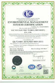 New ISO14001 Certificate