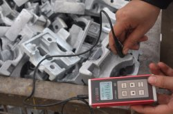 Zinc thickness tester