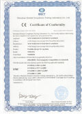 CE certificate for Wisdom corded lamp KL5M,KL8M