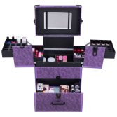 Cosmetic Vanity Luggage Sets Trolley Aluminum Case