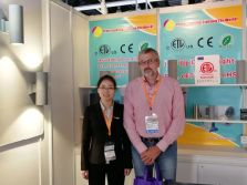 Customer visit on our booth