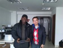 Aimar with Nigeria customer