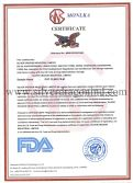 FDA Certificate for PVC cling film