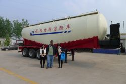 cement trailer customer visiting