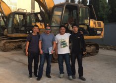 Madagascar Client visit for Used CAT excavator