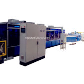 Corrugated reboard machine