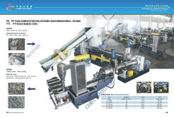 pe pp film compactor-pelletizing machine (double -stage )