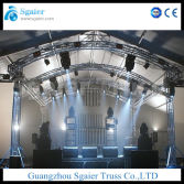 Indoor curved truss for music events band stage and truss