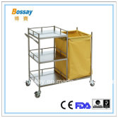 BS-668 Stainless steel trolley for making up bed