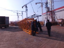 Loading booms of self-erecting tower crane TC4810