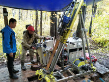 Hanfa HFP200 Core Drill Rig In Russia Working Site